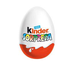 Huevo kinder en el supermercado