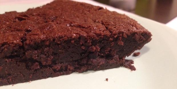 Pastel de chocolate sin harina. Libre de gluten.