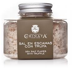 Sal en escamas con trufa de La Chinata