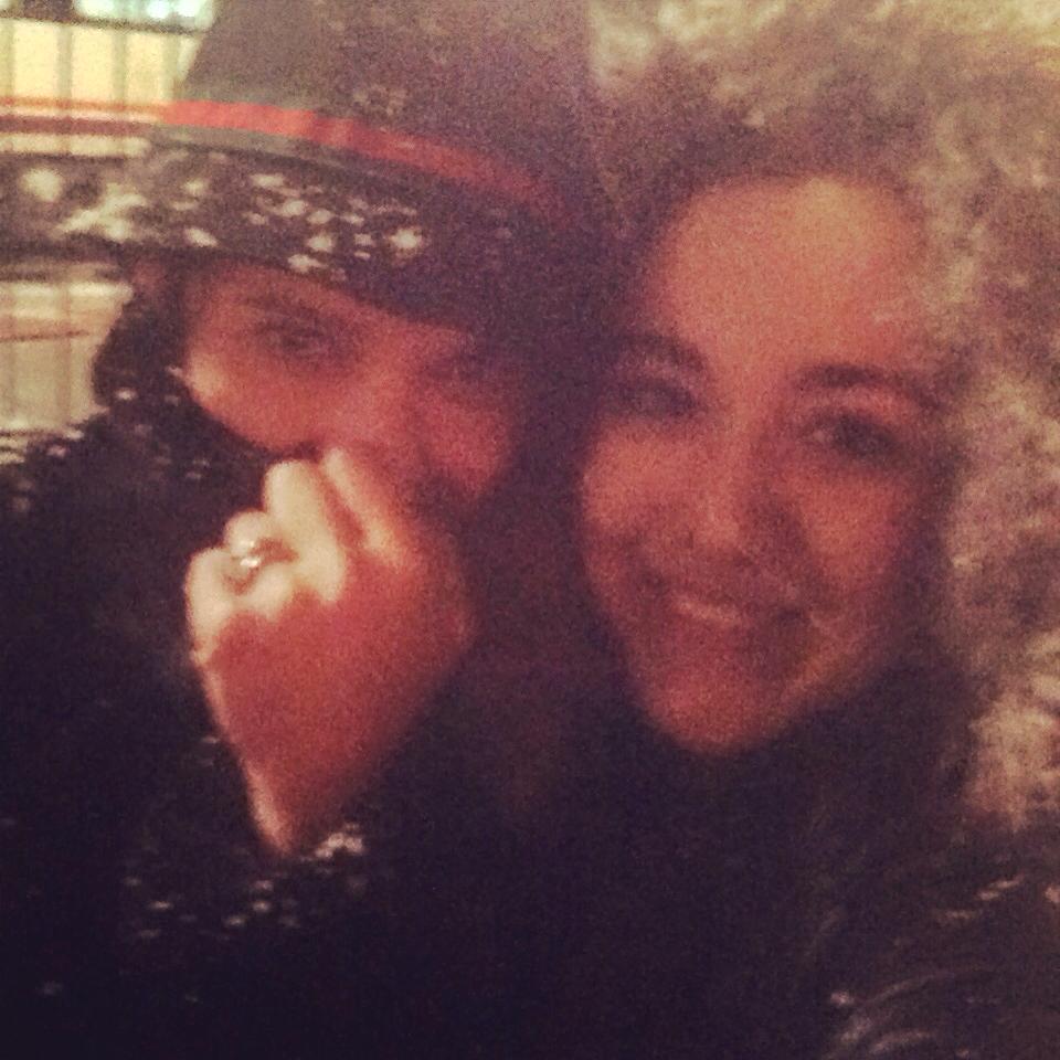 Carmen e Iratxe en el frío polar de Leon