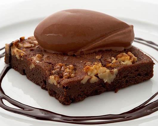 Brownie de chocolate de la Taberna del Zurdo