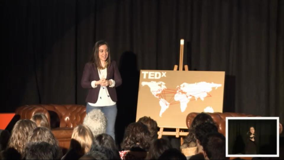 Carmen Ordíz en su intervención en TEDx