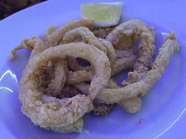 calamares con un reboce muy suave.