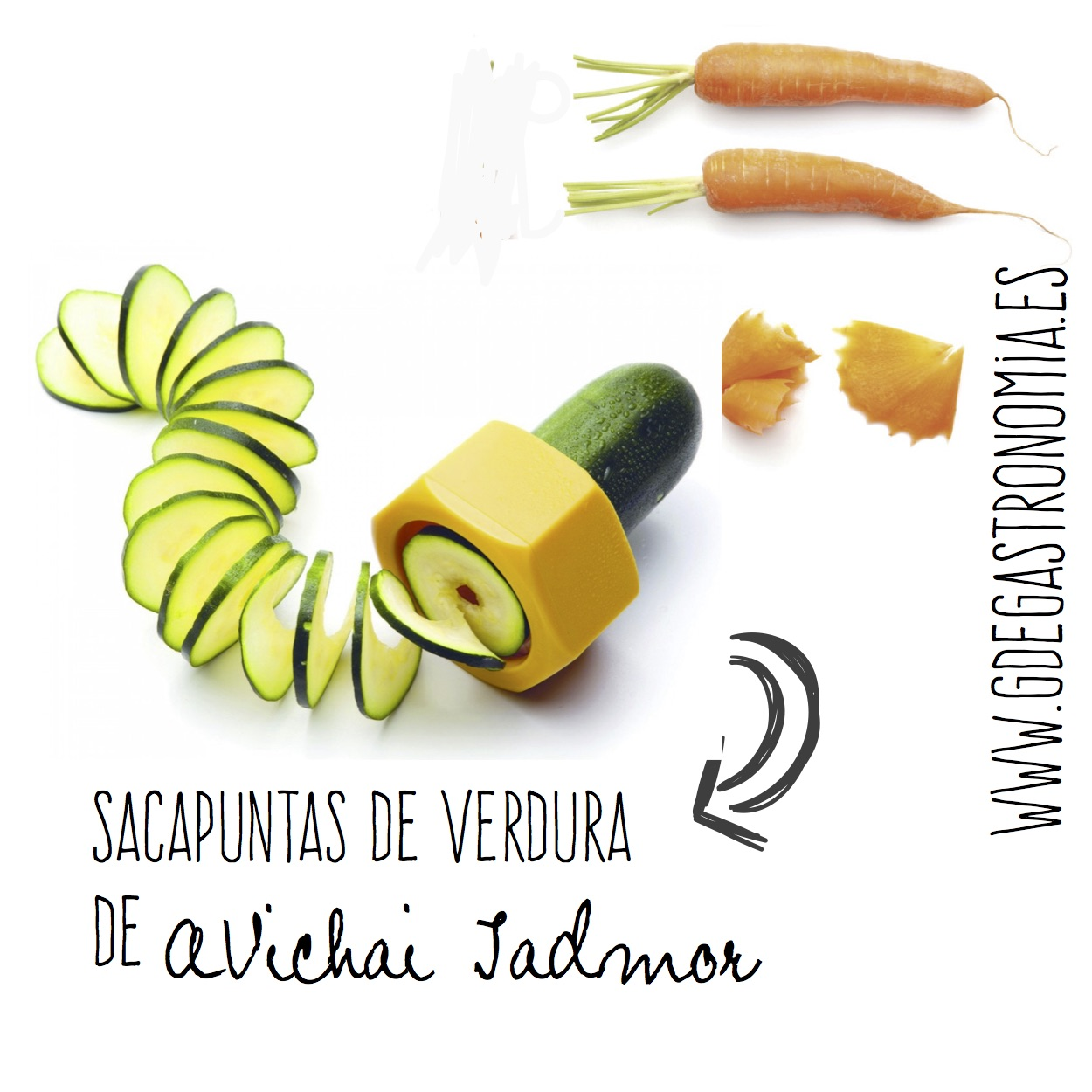 Sacapuntas de verdura de avichai Jadmor