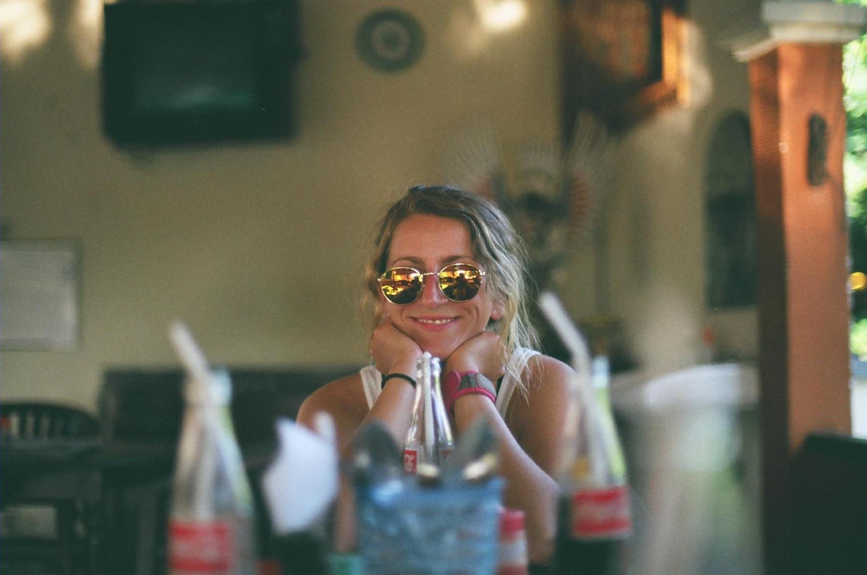 Sandra Solares en uno de sus viajes a Bali