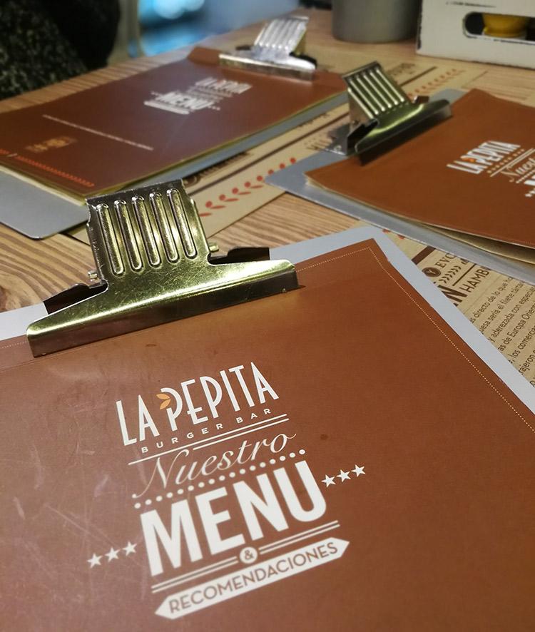El menu de Pepita Burger Oviedo