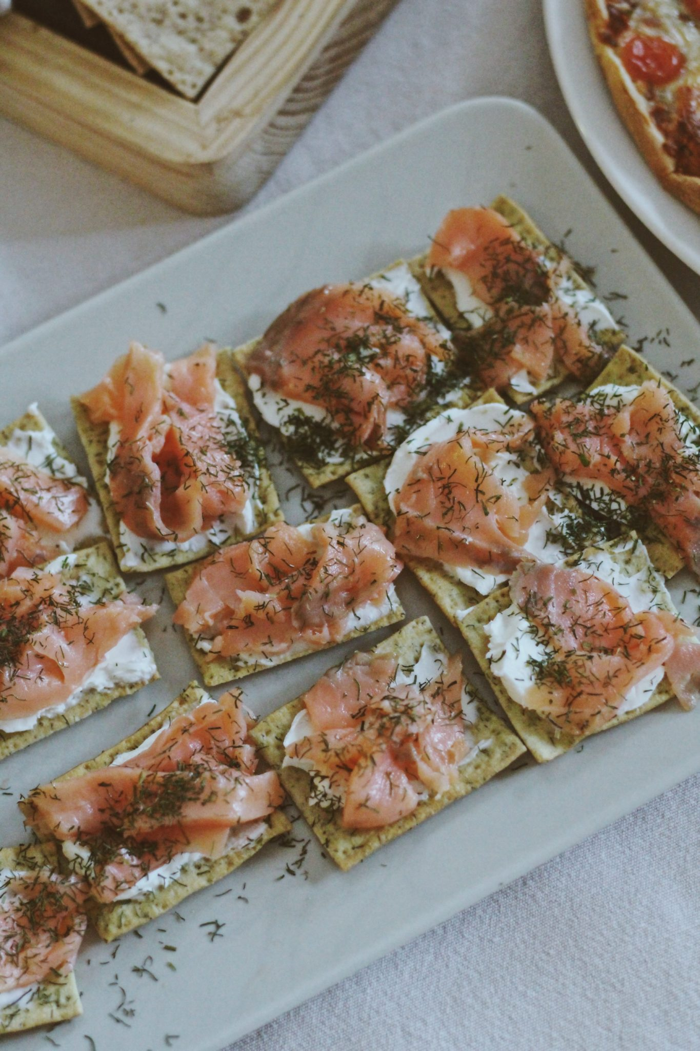 receta facil salmon marinado crackers Paul and pippa