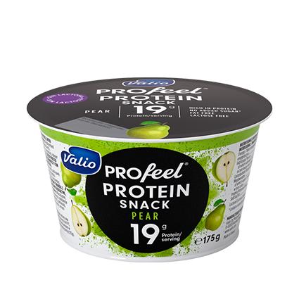 profeel protein snack pera valio