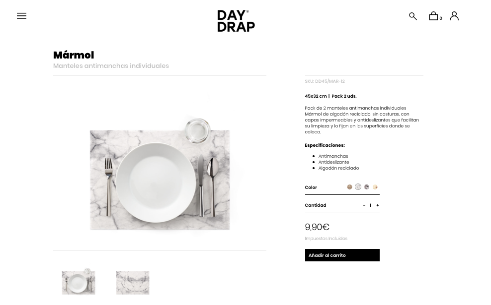daydrap manteles antimanchas individuales